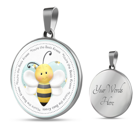 """Bees - You're the Bee's Knees"" Necklace"