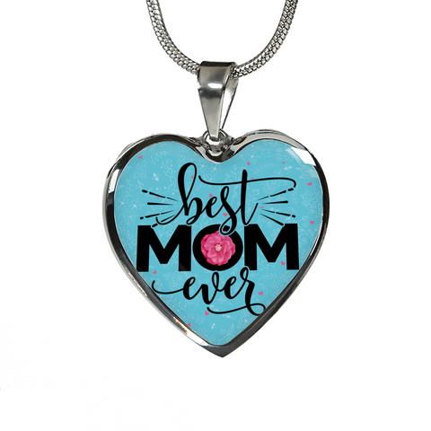 """Best MOM Ever"" Necklace or Bangle Bracelet"