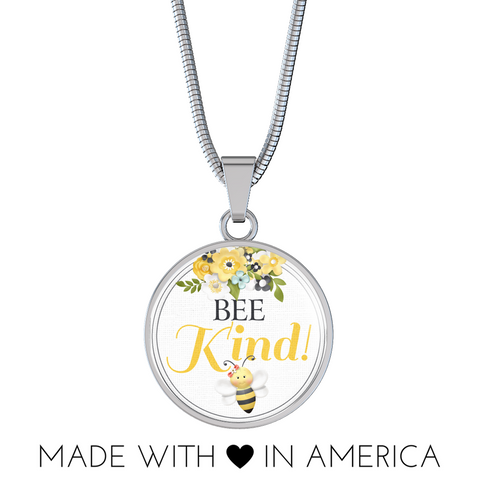 """Bee Kind!"" Necklace or Bangle Bracelet"