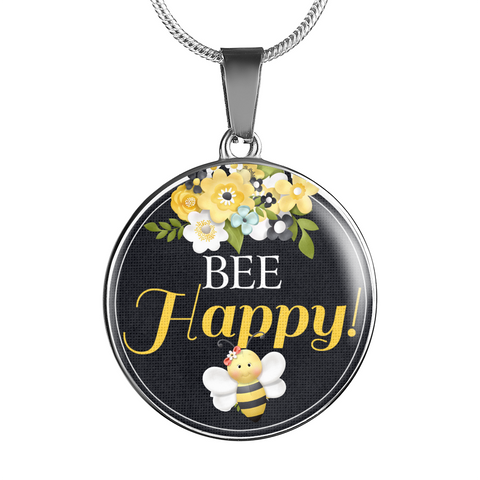 "Image of ""Bee Happy!"" Bangle Bracelet or Necklace"