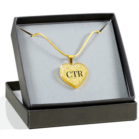 CTR Heart Charm Bracelet or Necklace