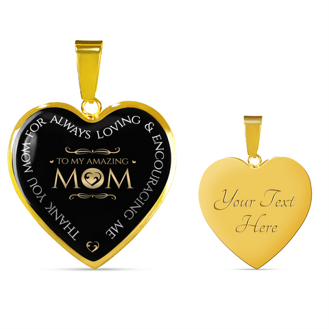 """Thank You Mom for Always Loving Me"" Necklace or Bracelet"
