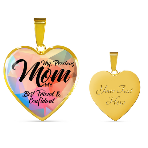 "Image of ""My Precious Mom, My Best Friend & Confident"" Necklace or Bracelet"