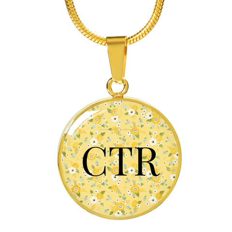 CTR Circle Bangle Bracelet or Necklace