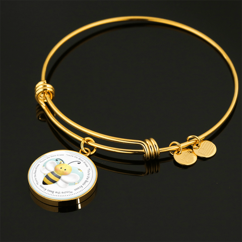 """Bees - You're the Bees Knees"" Charm Bangle"