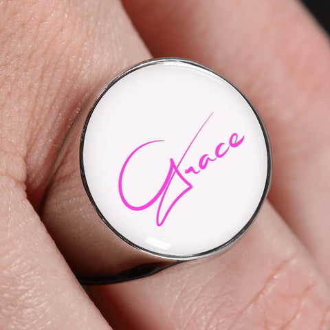 Grace Pink Signet Ring