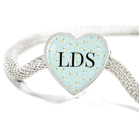 Image of LDS Heart Charm Bracelet
