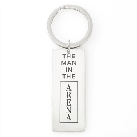 The Man In The Arena Stainless Steel Keychain