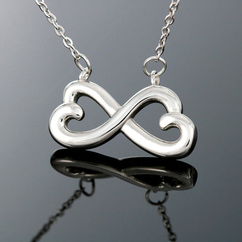 """To Wife, Love Husband-Heart"" - Infinity Hearts Necklace"