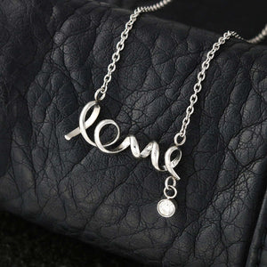 """To Mom, Love Son-Best"" Scripted Love Necklace"