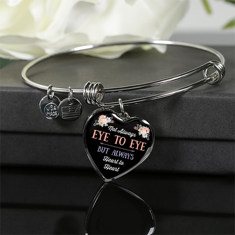 "Image of ""Not Always Eye to Eye ~ But Always"" Necklace or Bracelet"