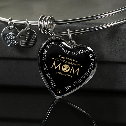 "Image of ""Thank You Mom for Always Loving Me"" Necklace or Bracelet"