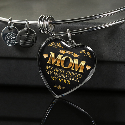 """Mom ~ My Best Friend ~ My Inspiration ~ My Rock"" Necklace or Bracelet"