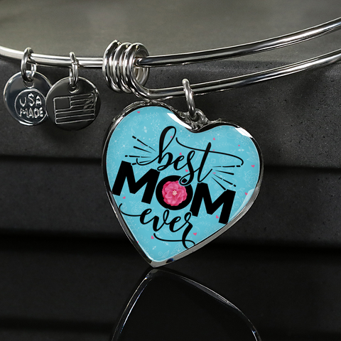 "Image of ""Best MOM Ever"" Necklace or Bangle Bracelet"