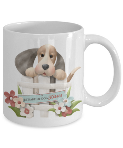 "Image of ""Beware of Dog Kisses"" Mug"