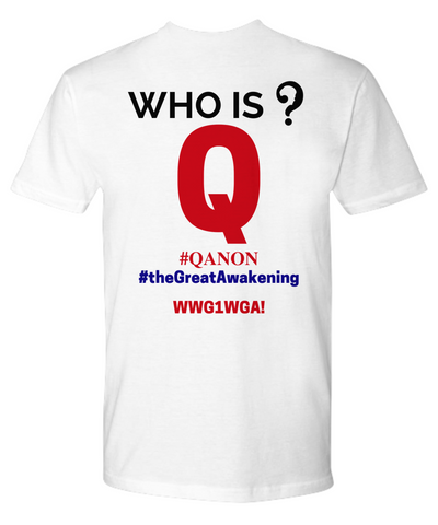 Image of Q Trust the Plan WWG1WGA Qanon The Great Wakening Who is Q? Shirt