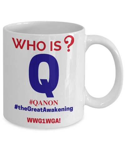 Q-Trust the Plan - Who is Q? Mug