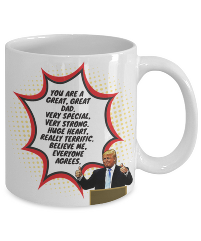 Image of Funny Great Dad Donald Trump Novelty Prank Mug