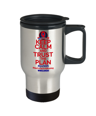 Q-Trust the Plan Travel Mug