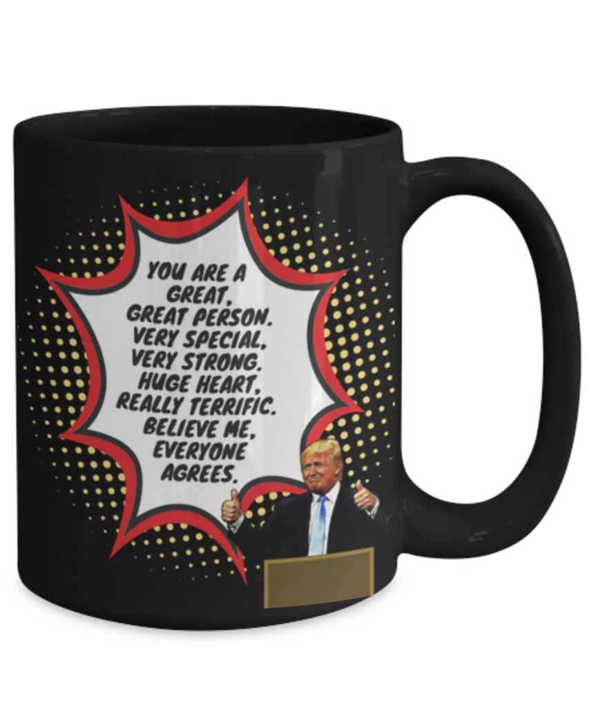 Funny Trump Person Praise Mug - Black