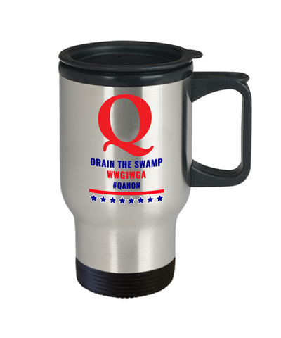 Image of Q Drain the Swamp Travel Mug