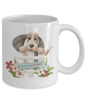 Beware of Dog Kisses Mug