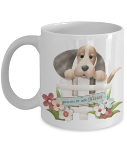 """Beware of Dog Kisses"" Mug"