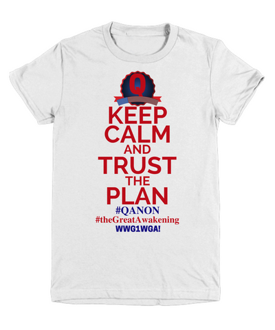 Image of Q Trust the Plan, WWG1WGA, QAnon, the Great Awakening Tee Shirt