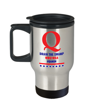 Q Drain the Swamp Travel Mug