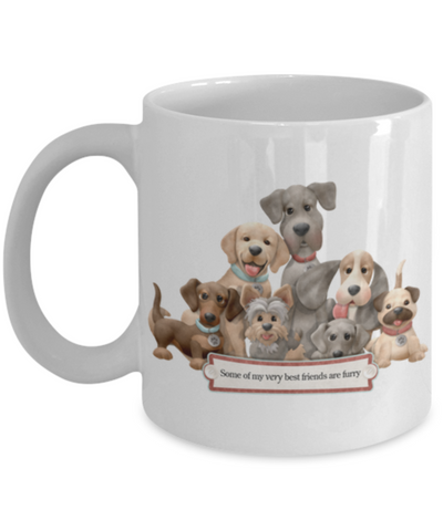"""Some of my very best friends are furry"" Mug"