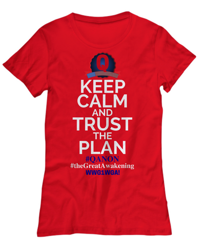 Image of Q Trust the Plan WWG1WGA Qanon The Great Awakening Who is Q? Shirt
