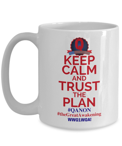Image of Q-Trust the Plan - Who is Q? Mug