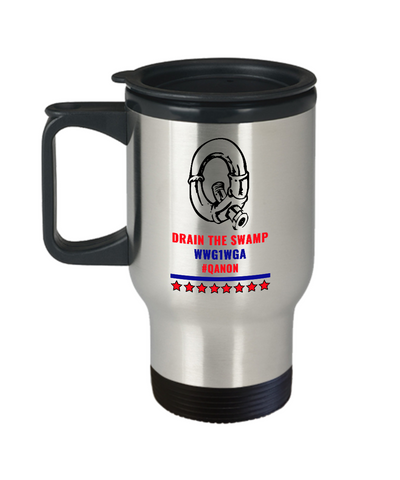 Image of Q Pipe Drain the Swamp Travel Mug