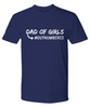 Fathers Day Gift Dad of Girls Outnumbered Men's T Shirt