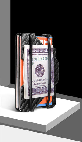 Image of NewBring 100% Carbon Fiber With RFID Anti-thief Blocking ID Card Wallet