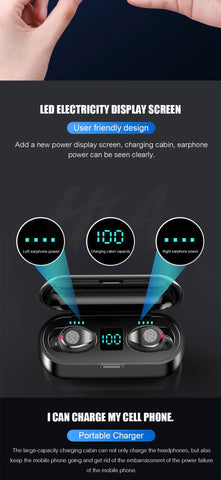 Image of Bluetooth V5.0 Earphone Wireless Earbuds