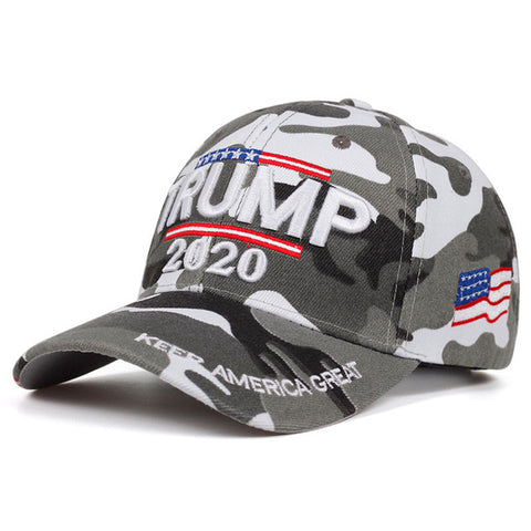 Image of Trump 2020 Camouflage USA Flag Keep America Great Cap