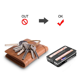 NewBring Multi-functional Money Clip with Credit Card Wallet and Key Holder