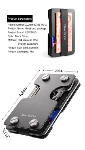 Image of NewBring Multi-functional Money Clip with Credit Card Wallet and Key Holder