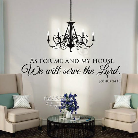 "Image of ""As For Me And My House We will serve the Lord."" Wall Decals"