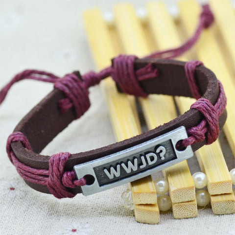 What Would Jesus Do (WWJD) Leather Bracelet