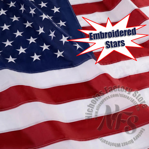 Image of Embroidered USA American Flag - Extra Large