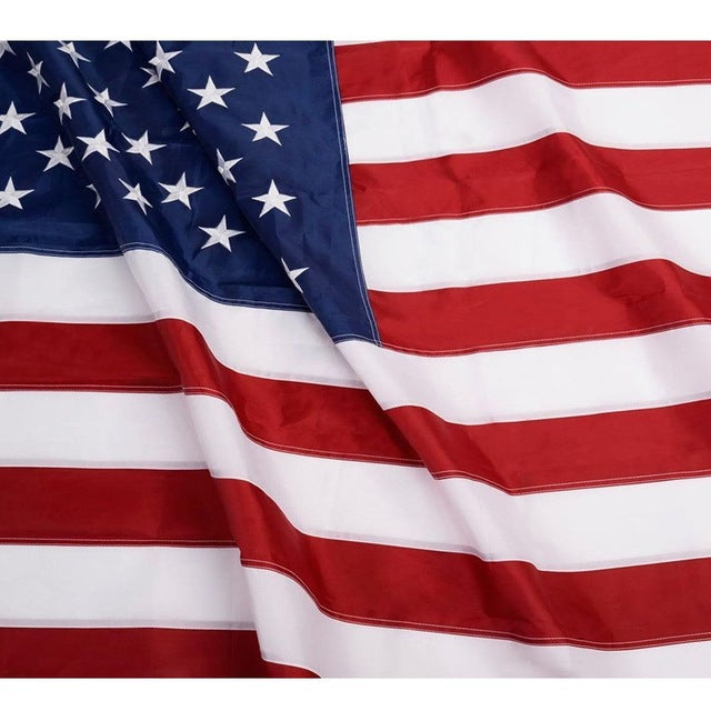 Embroidered USA American Flag - Extra Large