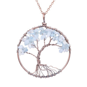 Handmade Tree Of Life Natural Stone Necklace