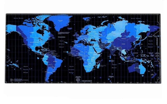 Gaming World Map XL Rubber Mouse Pad