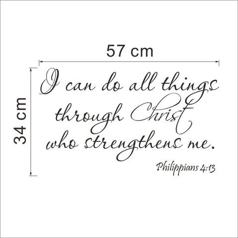 "Image of ""I can do all things through Christ who strengthens me."" Wall Decal"
