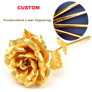 24k Gold Foil Plated Rose