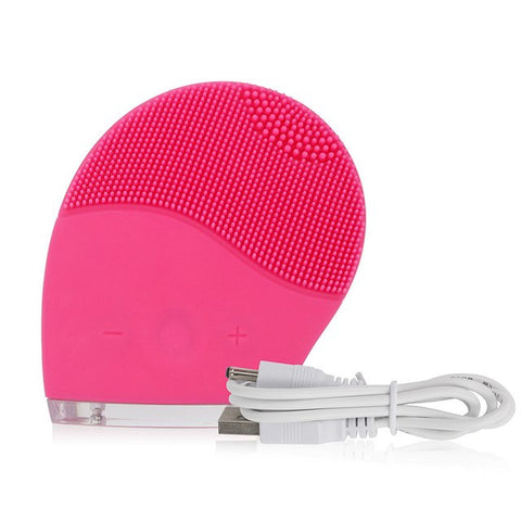 Image of Ultrasonic Facial Spa Deep Cleansing Silicone Massager Brush