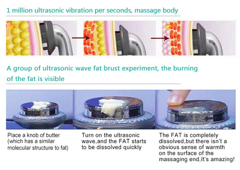 Ultrasound Cavitation EMS Body Infrared Cellulite Massager