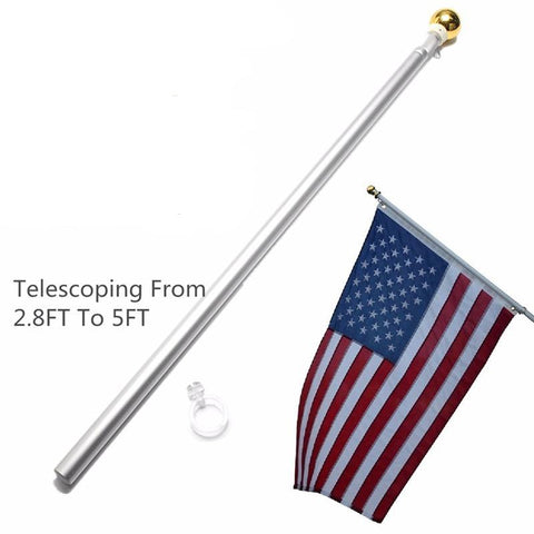 Image of 5Ft Telescoping Hand Held Flag Pole